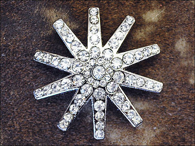Clear Rhinestone Spur Conchos Bling Headstall Tack Cowgirl