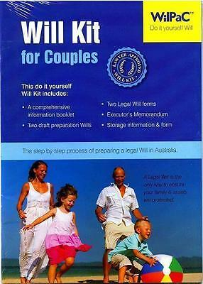 Wilpac Australian Diy Legal Will Kit For Couples Rrp $29.95