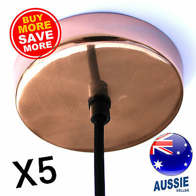 5x COPPER plated ceiling rose Industrial vintage style canopy outlet