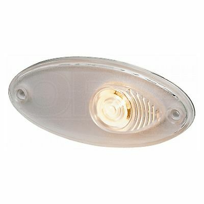 Position Light: Oval Marker WHI with Clear Lens | HELLA 2PF 964 295-027