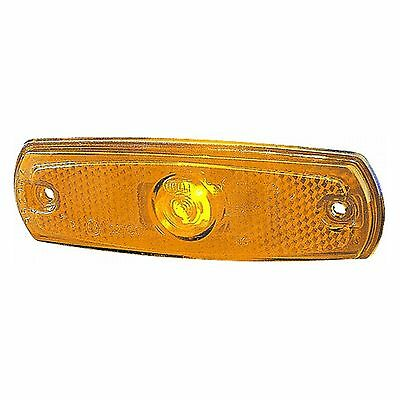 Side Marker Lamp Flush Fit 24v with Amber Lens | HELLA 2PS 962 964-012