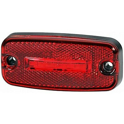Tail Light: Red LED Marker Lamp 5M Cable 24v | HELLA 2TM 345 600-317