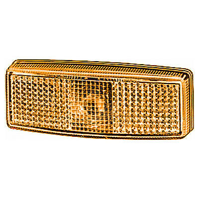 Side Marker Light / Lamp with Amber Lens 12v / 24v | HELLA 2PS 006 717-051