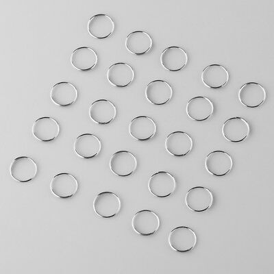 500pcs Chrome Ring Circle connector crystal prisms of chandelier lamp parts 12mm