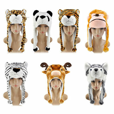 Kids Winter Keep Warm Faux Fur Fluffy Animal Hats for winter