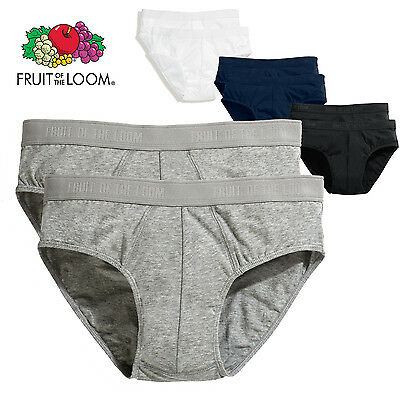Fruit Of The Loom 2 x BRIEFS MEN'S SPORT UNDERWEAR COTTON  SLIP PACK BRIEF SET
