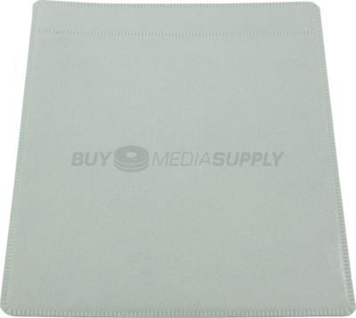 Non woven White Plastic Sleeve CD/DVD Double-sided - 6 Piece