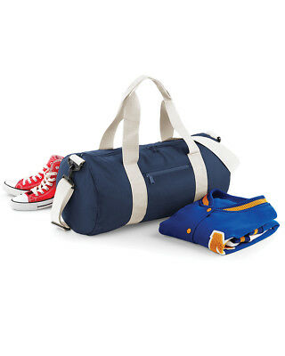 Bagbase ORIGINAL BARREL BAG LARGE HOLDHALL SPORTS GYM SCHOOL TRAVEL COLOURS BG14