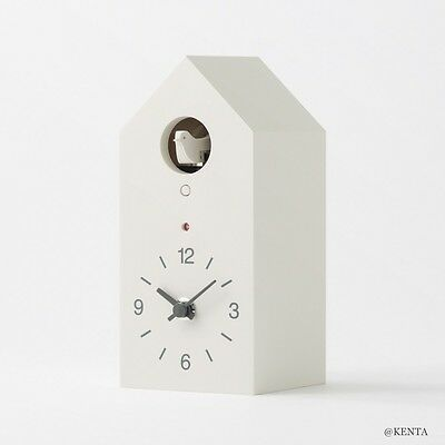 MUJI Mechanical cuckoo Wall put clock Small Size light sensor  From Japan F/S