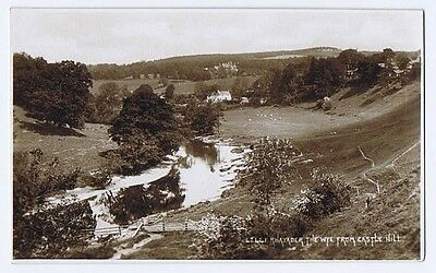 RHAYADER The Wye from Castle Hill, RP Postcard Unused