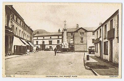 CRICKHOWELL The Market Place, Postcard by Frith Unused