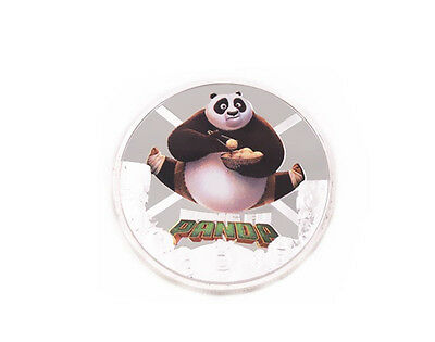Free Shipping Kung Fu Panda 3 Challenge Coin Silver Clad Commemorative New
