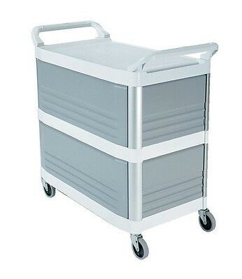 Rubbermaid Xtra Utility Cart, Enclosed on Three Sides