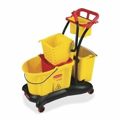Rubbermaid 7780 WaveBrake 35-Quart Mop Bucket w/Trolley Side Press (1 Each)