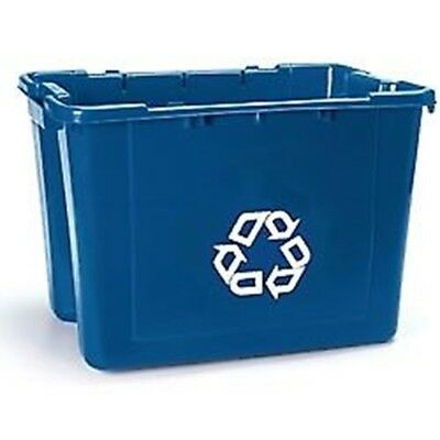 Rubbermaid 14 Gallon Stacking Recycling Box, Blue (Each)