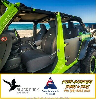 BLACK DUCK Denim Rear Seat Covers for Ford Ranger PX 06/15+ Super Cab XL
