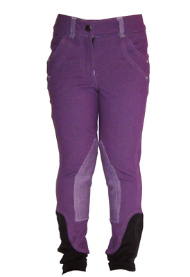 Horseware Childrens Denim Breeches - Purple