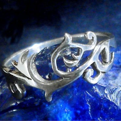 Ornament Ring 925 Silberfloral ornamental LARP Art tribal Cetic