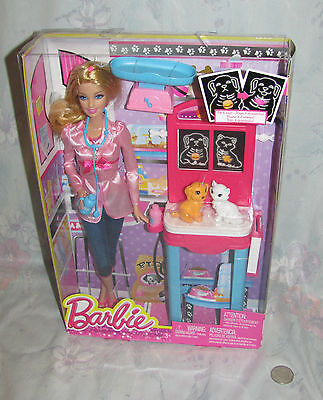 I Can Be Barbie - PET VET - Includes Doll & Two Pets plus X-Ray table + NIB MIB
