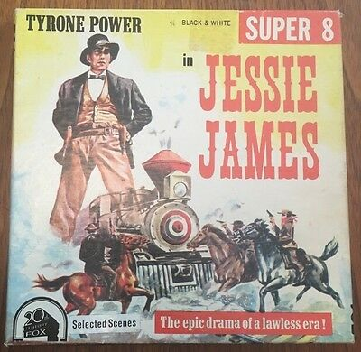 Vintage Super 8mm Movie - Tyrone Power in Jesse James (Selected Scenes) RARE!