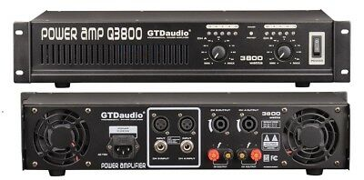 2 Channel 3800 Watts Professional Power Amplifier AMP Stereo GTD-Audio Q3800