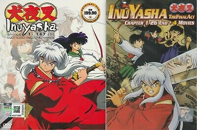 DVD Anime Inuyasha + The Final Act + 4 Movie Complete TV Series English Dub R0