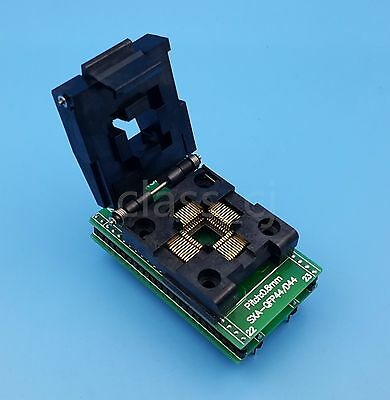 1Pcs QFP44/PQFP44/TQFP44 To DIP44 SA245A IC Programmer Socket Adapter