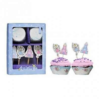 Fairy Design Cupcake Cases And Toppers Set Suitable For Homemade Cupcakes. Shipp