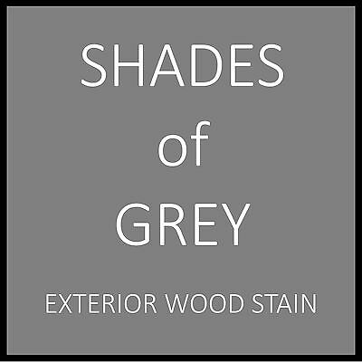 Shades Of Grey Wood Stain - Premium Exterior Stain - Great For Decks - Makes 5L