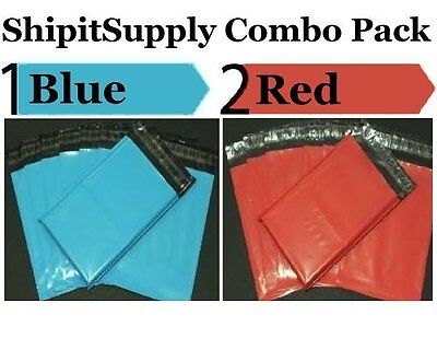 2-1000 10x13 ( Blue & Red ) Color Combo Poly Mailers Boutique Bags Fast Shipping