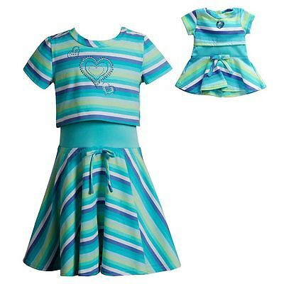 Dollie Me Girl and Doll Matching 4-10 Popover Skater Dress Clothes American Girl