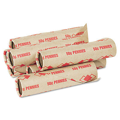 Pm Company Preformed Tubular Coin Wrappers Pennies $.50 1000 Wrappers/Carton