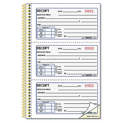 Rediform Money Receipt Book 2 3/4 x 5 Two-Part Carbonless 225 Sets/Book 8L829
