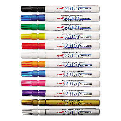 uni-Paint Markers Fine Point Assorted 12/Set 63721