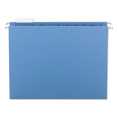 Smead Hanging File Folders 1/5 Tab 11 Point Stock Letter Blue 25/Box 64060