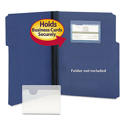 Smead Self-Adhesive Poly Pockets Top Load 4 1/16 x 3 Clear 100/Box 68123