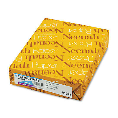 Neenah Paper CLASSIC CREST Writing Paper 24lb 8 1/2 x 11 Natural White 500