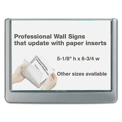 Durable Click Sign Holder For Interior Walls 6 3/4 x 1/2 x 5 1/8 Graphite 497737