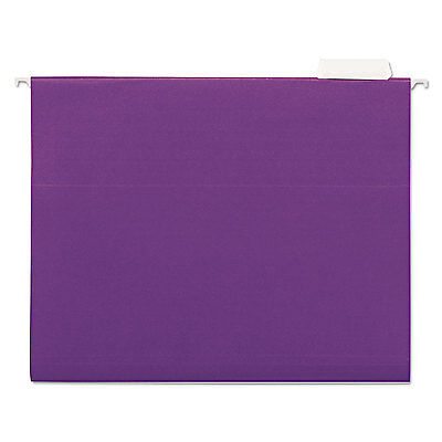 Universal One Hanging File Folders 1/5 Tab 11 Point Stock Letter Violet 25/Box