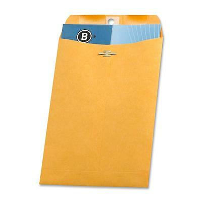 "Business Source Clasp Envelopes 28 lb. 6-1/2""x9-1/2"" 100/BX Brown Kraft 36661"