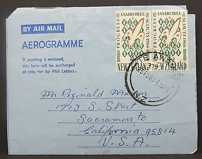 New Zealand Airmail Letter Pair Jambroee Paar Neuseeland Luftpost Brief (Lot9759