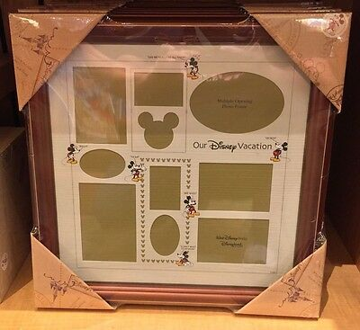 Disney Parks OUR DISNEY VACATION Mickey Multi Collage Photo Picture Frame 16x16