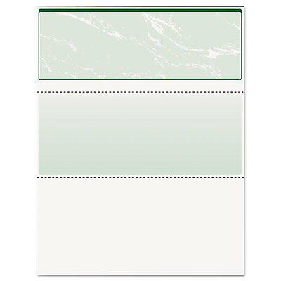 DocuGard Standard Security Check Green Marble Top 24 lb Letter 500/Ream 04502