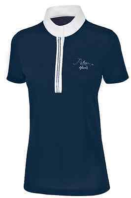 Pikeur Womens Sequin Competition Shirt - Navy Blue