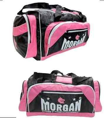 Morgan PINK Gym Gear bag Crossfit gloves equipment kit carry yoga sport Platinum