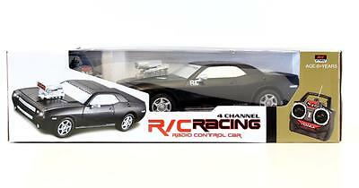 Radio Control Black Racing Muscle Car 4 Channel  27MHz -RC Racing New