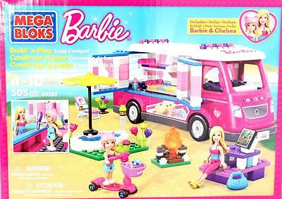Barbie Build & Play Luxury Camper by Mega Bloks 305 Piece Set New
