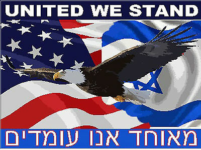 Isreal flag with eagle united we stand, SP-17
