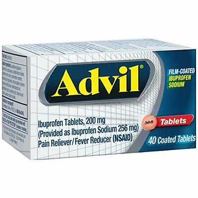 Advil Film-Coated Pain Relief Ibuprofen Tablets, 40 Count