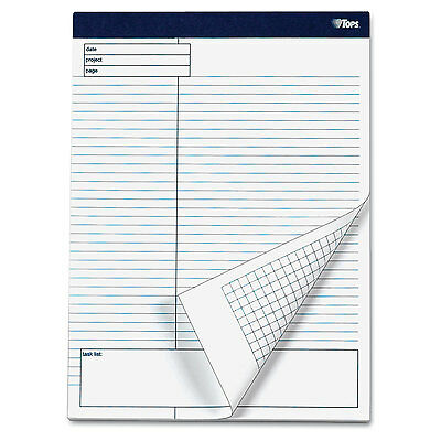 Tops Docket Gold Planning Pad Legal/Wide 8 1/2 x 11 3/4 White 40 Sheets 4/Pack